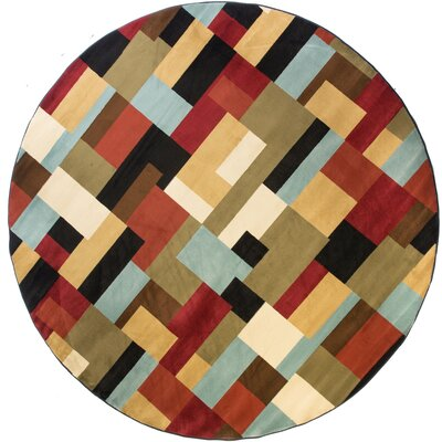 Freeman River Red Area Rug Rug Size: Round 53