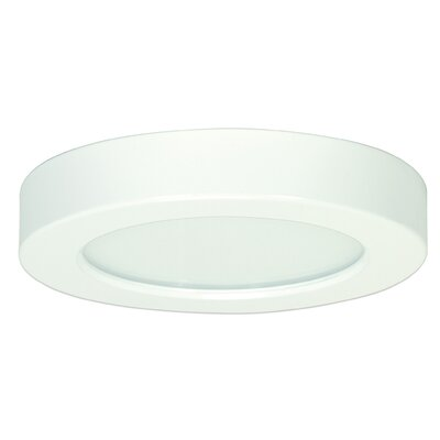 Oscar 1-Light 3000K Flush Mount Finish: White