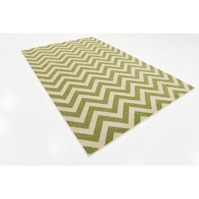 Pablo Green Area Rug Rug Size: 6 x 9