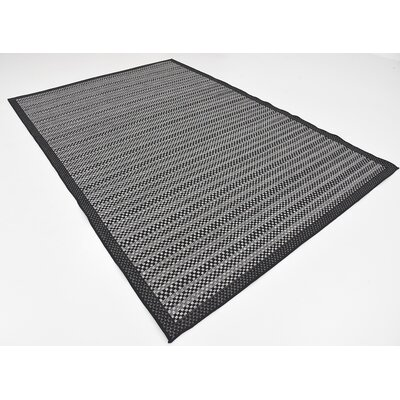 Pam Gray Outdoor Area Rug Rug Size: 6 x 9
