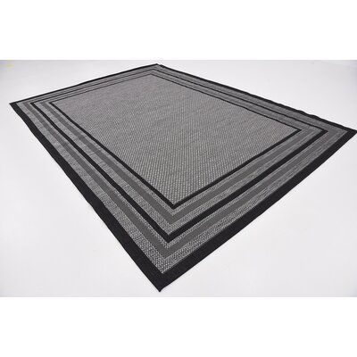 Pat Gray Outdoor Area Rug Rug Size: 4 x 6