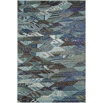 Irinna Blue Area Rug Rug Size: 4 x 6