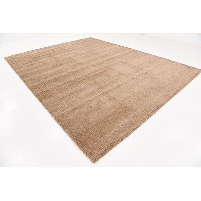 Truett Light Brown Area Rug Rug Size: Rectangle 10 x 13