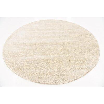 Truett Ivory Area Rug Rug Size: Round 8'