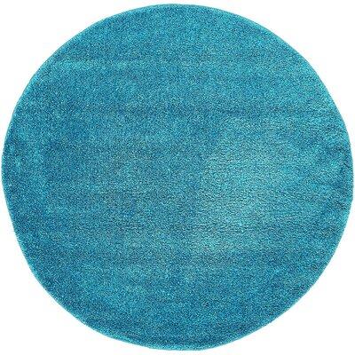 Craig Turquoise Area Rug Rug Size: Round 6