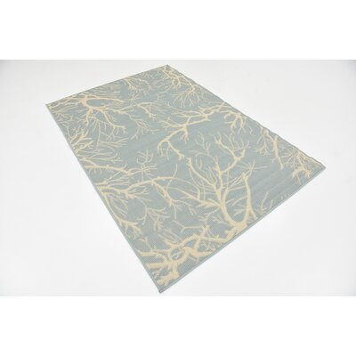 Tammi Light Blue Outdoor Area Rug Rug Size: 4 x 6