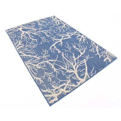Braun Blue Outdoor Area Rug Rug Size: 4 x 6