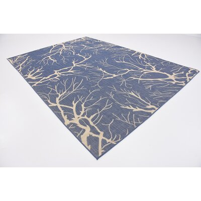 Korhonen Blue Outdoor Area Rug Rug Size: Rectangle 8 x 114