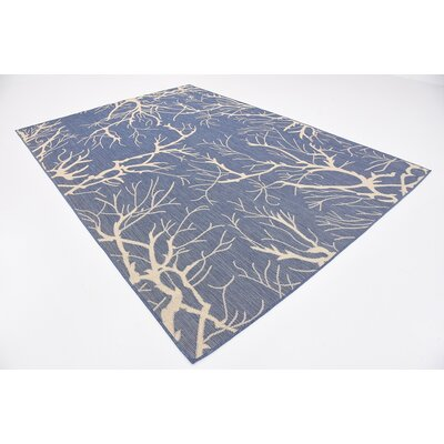Korhonen Blue Outdoor Area Rug Rug Size: Rectangle 7 x 10
