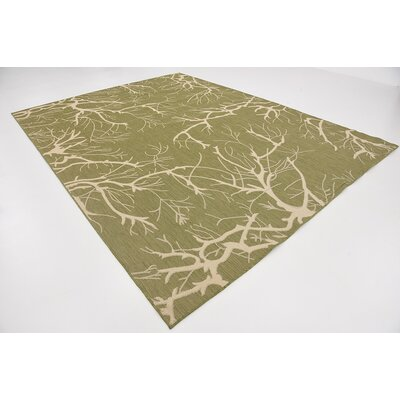 Tameka Green Outdoor Area Rug Rug Size: 9 x 12