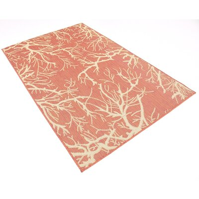 Yesenia Terracotta Outdoor Area Rug Rug Size: 4 x 6