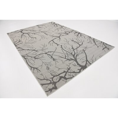 Goodman Light Gray Outdoor Area Rug Rug Size: 7 x 10