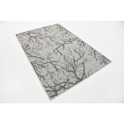 Kornegay Light Gray Outdoor Area Rug Rug Size: Rectangle 7 x 10
