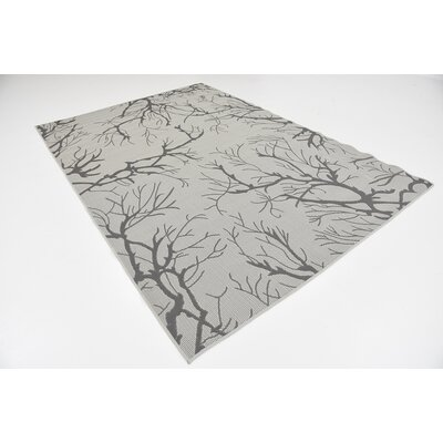 Terrence Light Gray Outdoor Area Rug Rug Size: 6 x 9