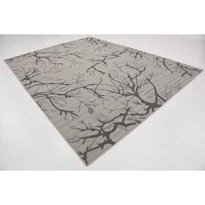 Terrence Light Gray Outdoor Area Rug Rug Size: 9 x 12