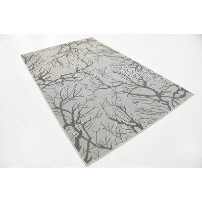 Goodman Light Gray Outdoor Area Rug Rug Size: 5 x 8