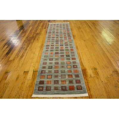 Janis Blue Area Rug Rug Size: Runner 27 x 10