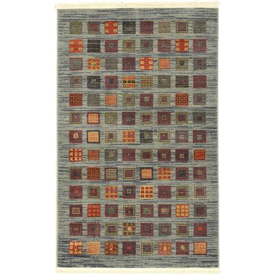 Bishop Blue/Green Area Rug Rug Size: Rectangle 106 x 165