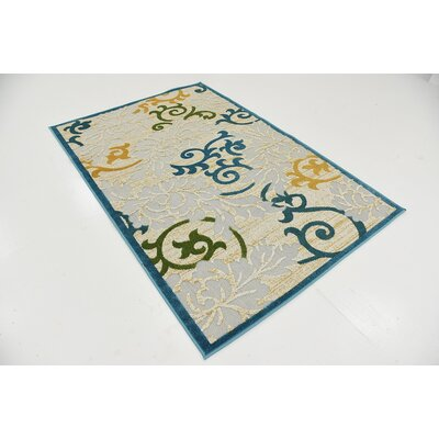 Fidela Blue Indoor/Outdoor Area Rug Rug Size: Runner 2' x 6'