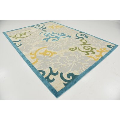 Fidela Blue Indoor/Outdoor Area Rug Rug Size: 7' x 10'