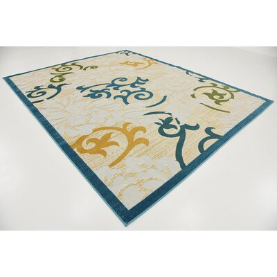 Fidela Blue Indoor/Outdoor Area Rug Rug Size: 8' x 10'