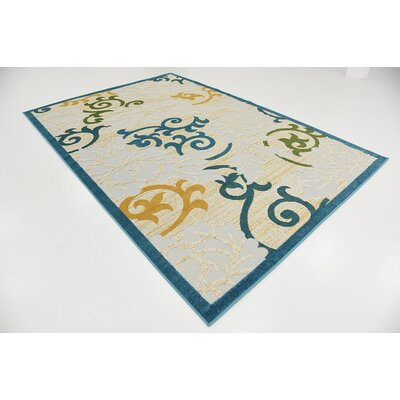 Fidela Blue Indoor/Outdoor Area Rug Rug Size: 6' x 9'