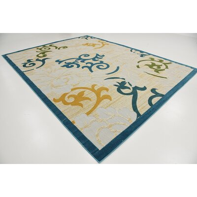 Fidela Blue Indoor/Outdoor Area Rug Rug Size: Rectangle 9 x 12