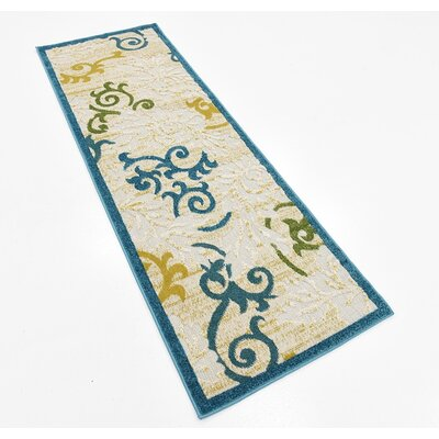 Lessie Blue Indoor/Outdoor Area Rug Rug Size: 5 x 8