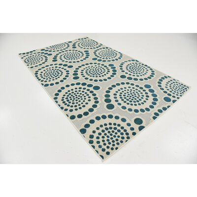 Elton Cream Indoor/Outdoor Area Rug Rug Size: 5 x 8