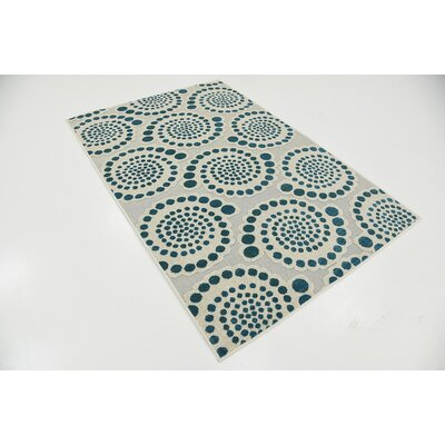 Elton Cream Indoor/Outdoor Area Rug Rug Size: 4 x 6