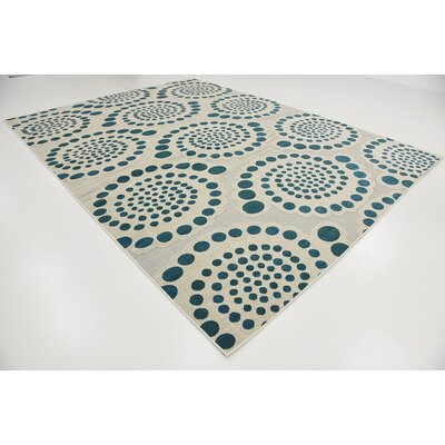 Elton Cream Indoor/Outdoor Area Rug Rug Size: 9 x 12