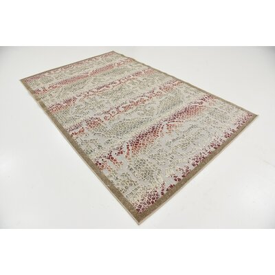 Lorenza Beige Indoor/Outdoor Area Rug Rug Size: 5 x 8