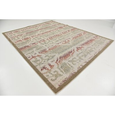 Lorenza Beige Indoor/Outdoor Area Rug Rug Size: 8 x 10
