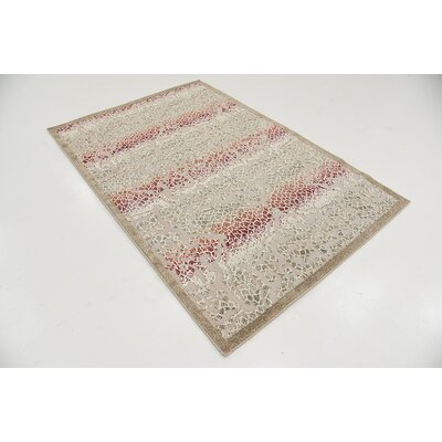 Lela Beige Indoor/Outdoor Area Rug Rug Size: 4 x 6