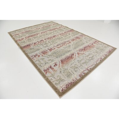 Lela Beige Indoor/Outdoor Area Rug Rug Size: 6 x 9