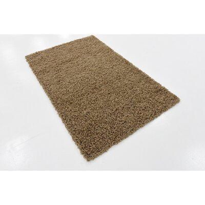 Brown Area Rug Rug Size: 9 x 12