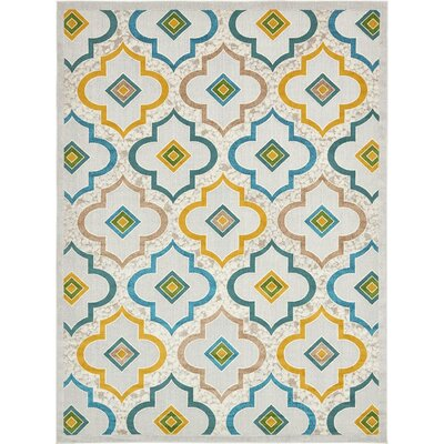 Truett White Area Rug Rug Size: Rectangle 8 x 10