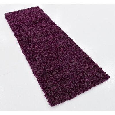 Purple Area Rug Rug Size: Runner 22 x 65