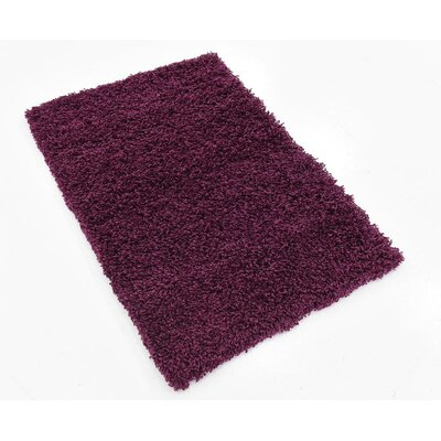 Marine Purple Area Rug Rug Size: 4 x 6