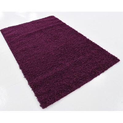 Purple Area Rug Rug Size: 4 x 6