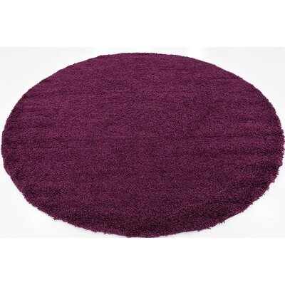 Purple Area Rug Rug Size: Round 82