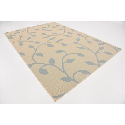 Kindig Beige Outdoor Area Rug Rug Size: Rectangle 7 x 10