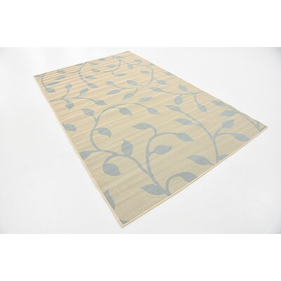 Kindig Beige Outdoor Area Rug Rug Size: Rectangle 5 x 8