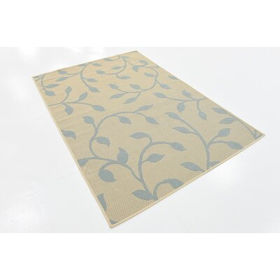 Leonor Beige Outdoor Area Rug Rug Size: 4 x 6