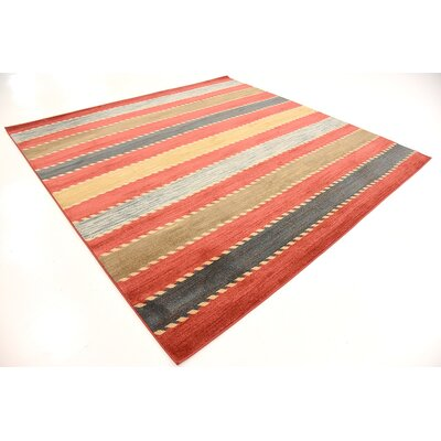 Bishop Red Area Rug Rug Size: Square 8