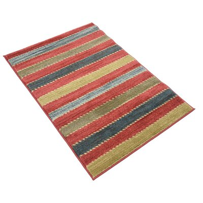 Bishop Red Area Rug Rug Size: Rectangle 33 x 53