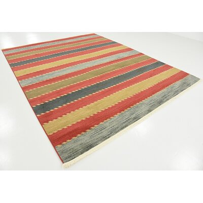 Bishop Red Area Rug Rug Size: 8 x 10