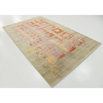 Belkis Orange Area Rug Rug Size: 5 x 8