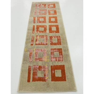 Belkis Orange Area Rug Rug Size: Runner 2 x 6