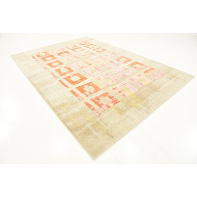 Tommy Orange Area Rug Rug Size: 7 x 10